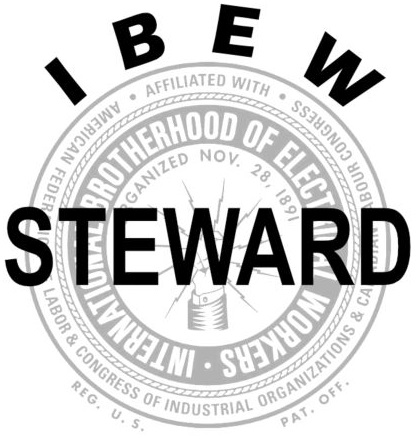 ibew STEWARD with bug